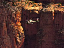 Flug durch den Grand Canyon stockbild