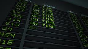 Flug-Informationen über Zeit stock abbildung