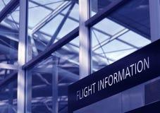 Flug-Informationen Lizenzfreie Stockfotografie