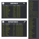 Flug-Informationen - Set 1 - verzögerte Flüge Lizenzfreie Stockbilder