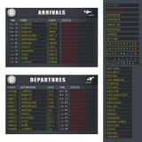 Flug-Informationen - Set 2 - beendete Flüge Stockfotos