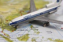 Flug nach Manila lizenzfreies stockbild
