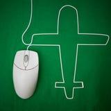 Flug online Lizenzfreies Stockbild