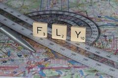 Flug-Planung lizenzfreie stockfotos