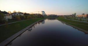 Flug in Vilnius stock video footage