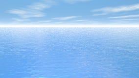 Fluga över havet - 3D framför royaltyfri illustrationer