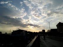Fluga över Makassar Royaltyfri Fotografi