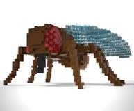 fluga för voxel 3d Royaltyfri Foto