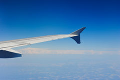 Fluga i blå sky arkivfoto