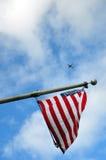Fluga till USA Arkivbilder