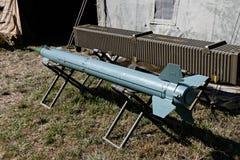 Flugabwehrrakete Stockfoto