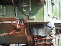 Flugabwehrraketesystem BUK, Transport eines Kampffahrzeugs durch die Stadt zur Anti-Terroristoperationszone stockfotografie