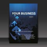 Flugblatt-Auslegung - Geschäft Stockfoto