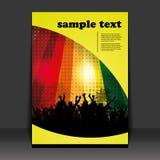 Flugblatt-Auslegung - Party-Zeit Lizenzfreies Stockfoto