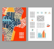 Flugblatt, Broschüre, Broschürenplan Editable Designschablone A4 Stockbilder