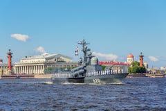 Flugboot Tschuwaschien auf Wiederholung der Marineparade am Tag der russischen Flotte in St Petersburg Stockfotos