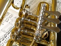 Flugelhorn Detail 09 Stock Photos