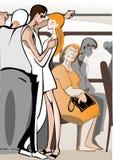 Fluggäste Lizenzfreies Stockfoto