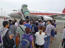 Fluggasteinstieg Lizenzfreies Stockbild