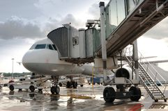 Fluggastflugzeuge Lizenzfreies Stockfoto