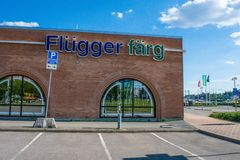 Flugger farg shop in sweden royalty free stock photography