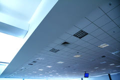 Am Flughafen Stockfoto
