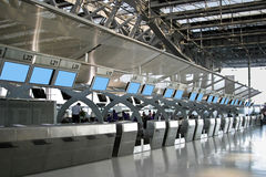 Flughafen-Abfertigungsschalter Lizenzfreies Stockbild