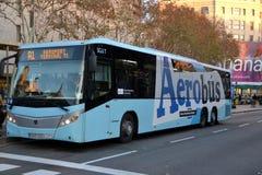 Flughafen Aerobus in Barcelona Stockbild