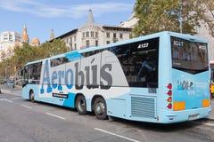Flughafen Aerobus in Barcelona Stockbilder