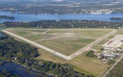 Flughafen-Antenne Stockfotos