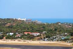 Flughafen auf der Insel stockfotografie