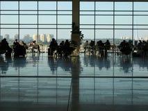 Flughafen-Aufenthaltsraum Stockfoto
