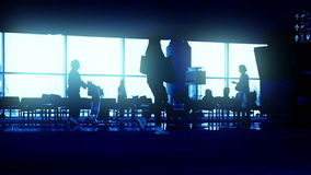 Flughafen-Ausgang stock video