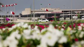Flughafen Bahrains Internacional - Äußeres 02 stock video footage