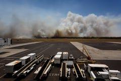 Flughafen-Buschfeuer in EL Salvadore, Mittelamerika Stockfoto