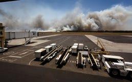 Flughafen-Buschfeuer in EL Salvadore, Mittelamerika Stockbild