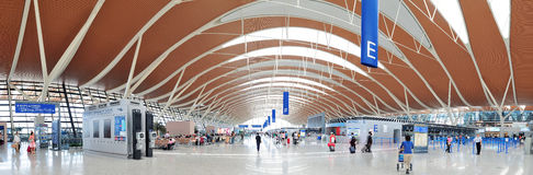 Flughafen China-Shanghai Pudong Lizenzfreie Stockfotos