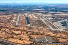 Flughafen des Kommunikationsrechner-Phoenix-MESA Stockbild