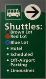 Flughafen-Doppelventilkegel-Zeichen Stockfoto