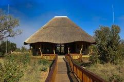 Flughafen-Empfangshalle nahe Sabi Sand in Südafrika Stockfotos
