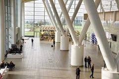 Flughafen, errichtet für die Fußball-Weltmeisterschaft im Jahre 2018 Die Passagiere a Lizenzfreies Stockfoto