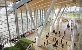 Flughafen, errichtet für die Fußball-Weltmeisterschaft im Jahre 2018 Die Passagiere a Lizenzfreie Stockfotografie
