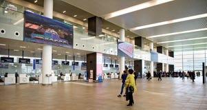 Flughafen, errichtet für die Fußball-Weltmeisterschaft im Jahre 2018 Die Passagiere a Stockfotografie