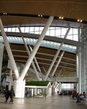Flughafen, errichtet für die Fußball-Weltmeisterschaft im Jahre 2018 Die Passagiere a Lizenzfreies Stockbild
