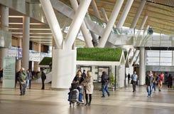 Flughafen, errichtet für die Fußball-Weltmeisterschaft im Jahre 2018 Die Passagiere Lizenzfreie Stockbilder