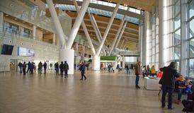 Flughafen, errichtet für die Fußball-Weltmeisterschaft im Jahre 2018 Die Passagiere a Stockfotos