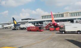 Flughafen-Grundoperationen Stockfotos