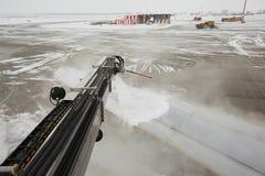 Flughafen im Winter Stockbild