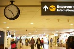 Flughafen, internationaler Versand Stockbild