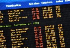 Flughafen kommen Vorstand an Lizenzfreies Stockfoto
